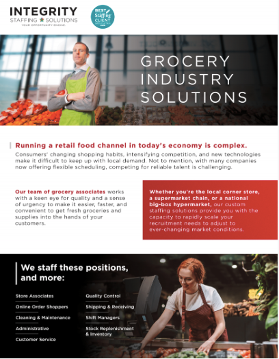 Grocery Industry Staffing Solutions - Integrity Staffing Solutions