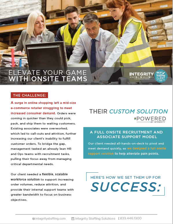 elevate your game with onsite teams