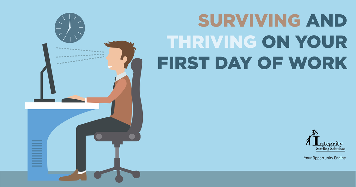 march blog surviving and thriving on your first day of work