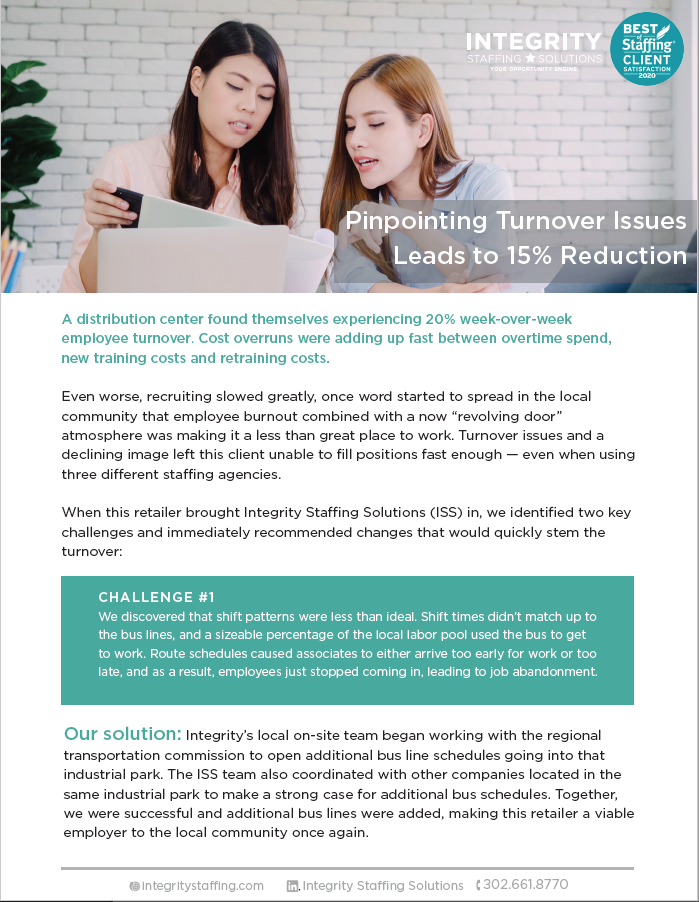 case study turnover