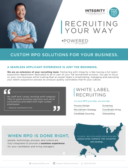 RPO Staffing Solutions - Integrity Staffing Solutions